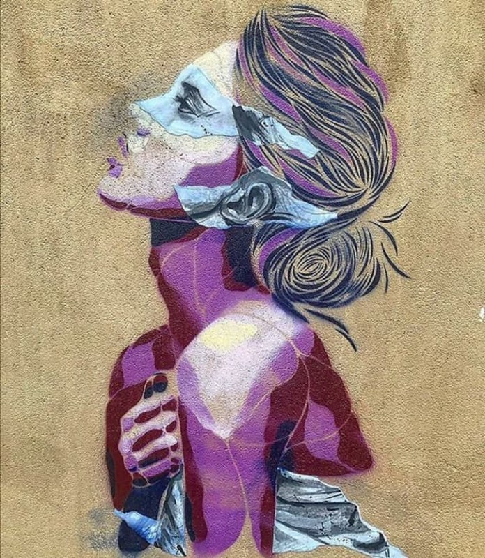 Ensemble Réel street art pochoir et coll