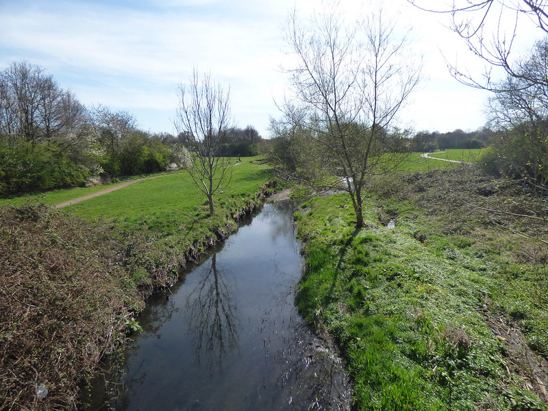 The River Cole at the Bordesley Green East Bridge
