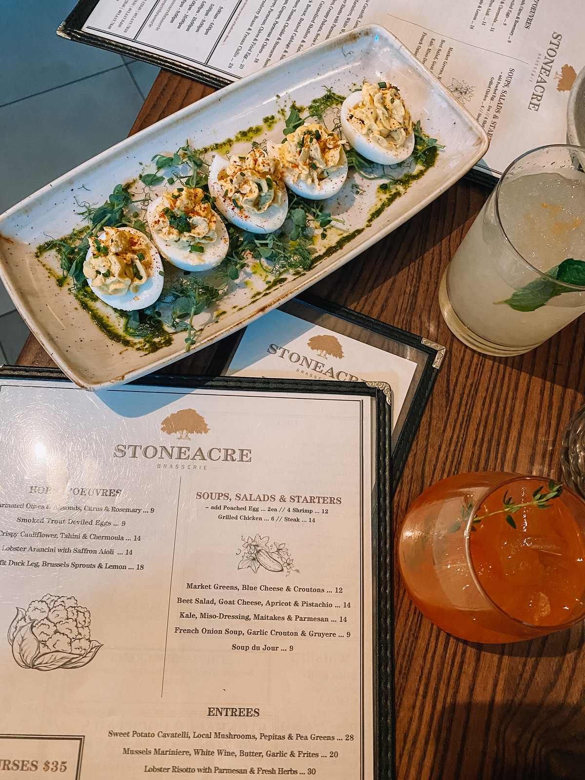 Stoneacre Brasserie Smoked Trout Deviled Eggs | Where to Eat in Newport | 48 Hours in Newport Itinerary | A First Timer's Guide to 2 Days in Newport Rhode Island | What to do in Newport | Newport Travel Guide | Best Things to do in Newport | Best Places to Visit in Newport