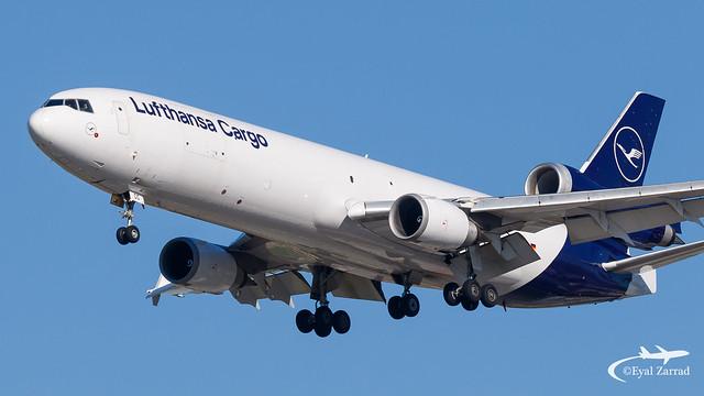 TLV - Lufthansa Cargo MD-11Freighter D-ALCC