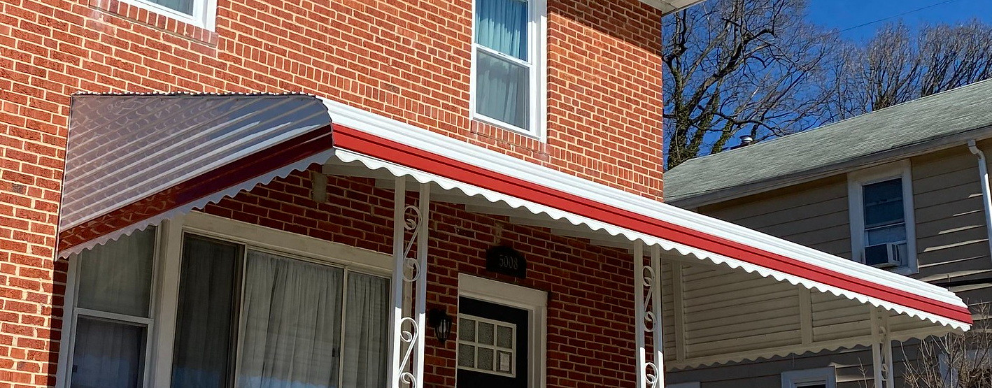 Aluminum Stepdown Awning with Style Line- Hoffman Awning Baltimore