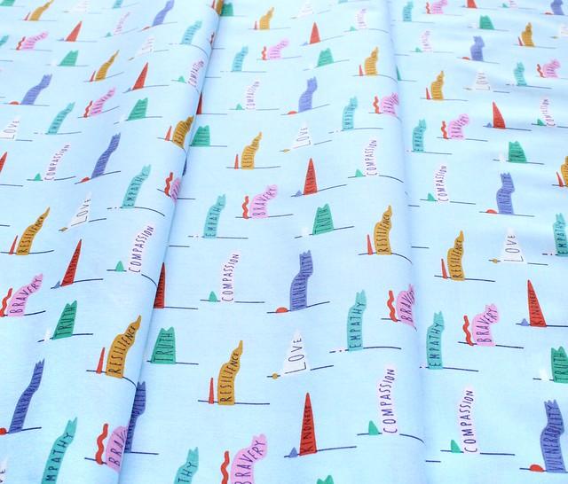 Cloud9 Fabrics Universal Love 227027 Pennant Power Light Blue
