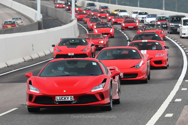 Ferrari, F8 Spider, Tsing Ma Bridge, Hong Kong