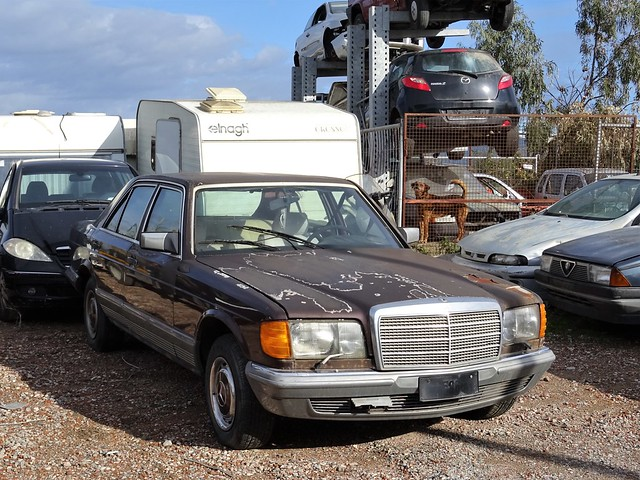 waiting for scrap - Mercedes-Benz 280 SE