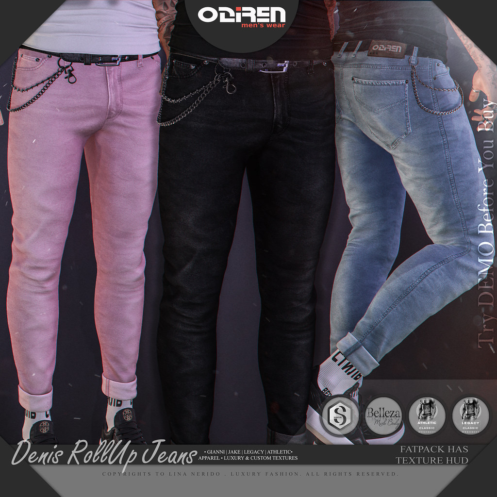 -ODIREN- Denis RollUp Jeans