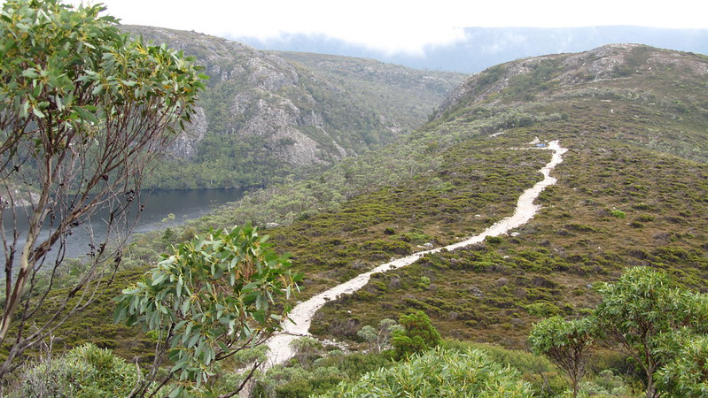 Day 1: Looking down from climb to Marion's Lookout