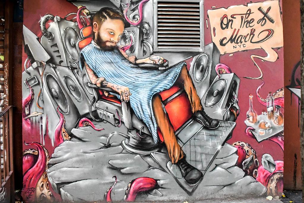 Walk In New York 2019 - Barber Shop Brooklyn - Fresque