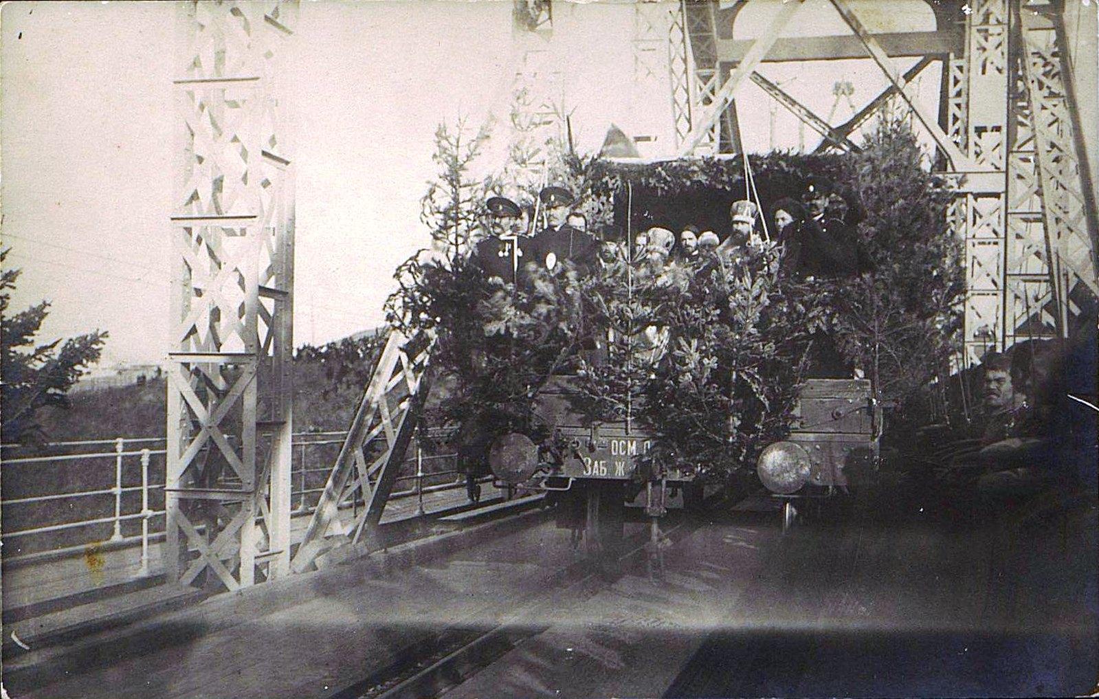 11. 1916. Открытие железнодорожного моста через реку Амур. Октябрь