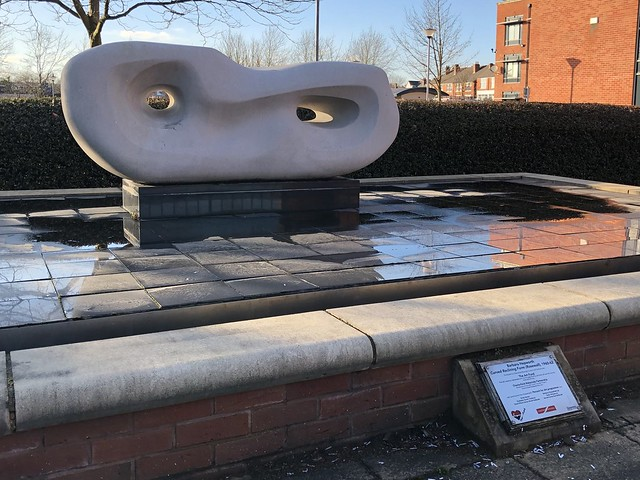Curved Reclining Form (Rosewall) by Barbara Hepworth - Chesterfield 2021