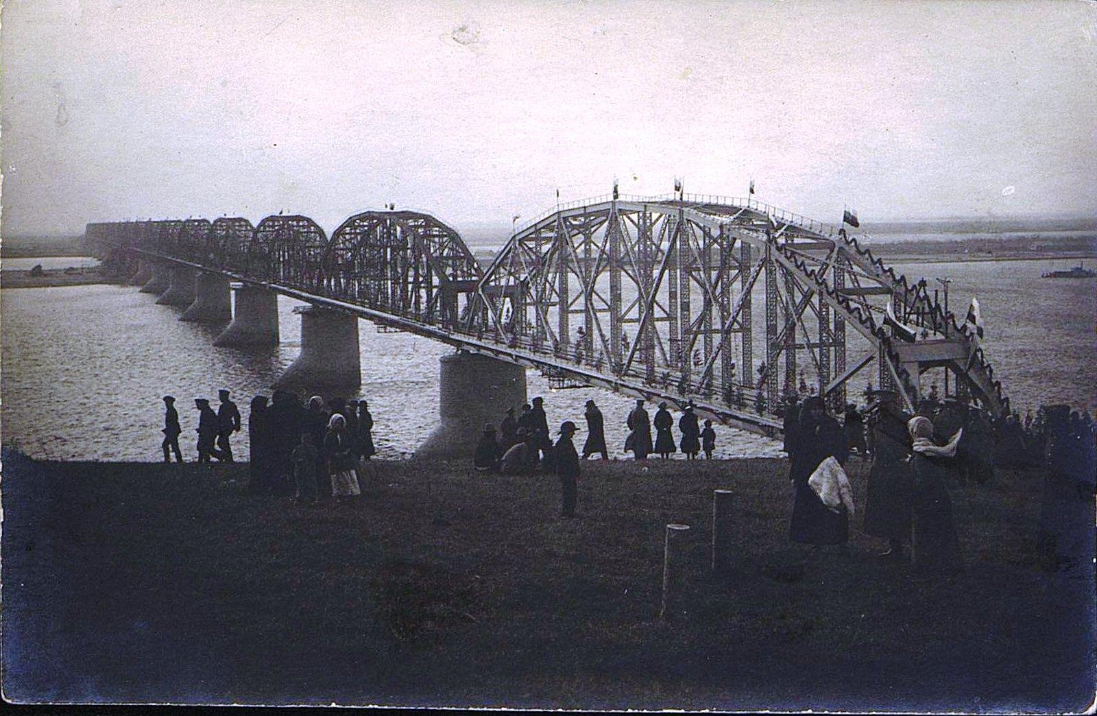 12. 1916. Открытие железнодорожного моста через реку Амур. Октябрь