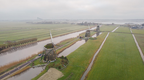 europe europa nederland thenetherlands holland dutch landscape architecture flight molenviergang leidschendam windmill mill molen polder landschap mist fog morning sunrise water