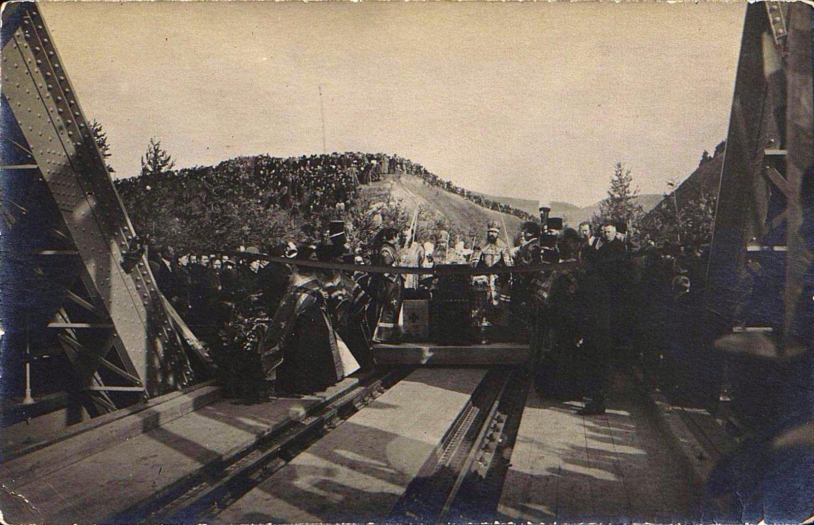 07. 1916. Открытие железнодорожного моста через реку Амур.Октябрь