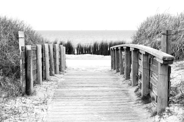 Weg zum Strand in Cuxhaven
