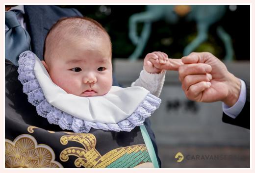 初宮参り 男の子赤ちゃん よだれかけ