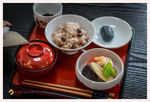 ご自宅でお食い初め 料理の写真