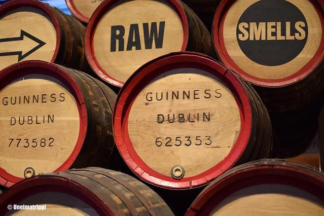 Tynnyreitä Guinness Storehousen näyttelyssä
