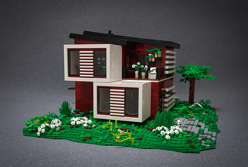 Candy-Striped House MOC. Window side.