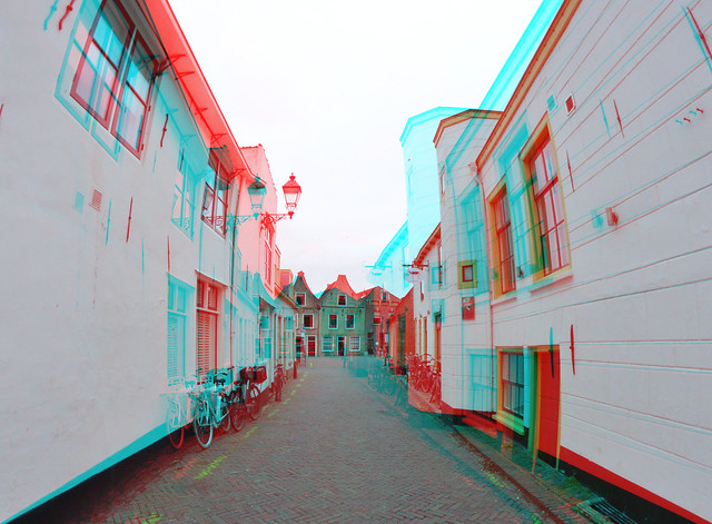 Oudewater 3D anaglyph Rokinon 8mm