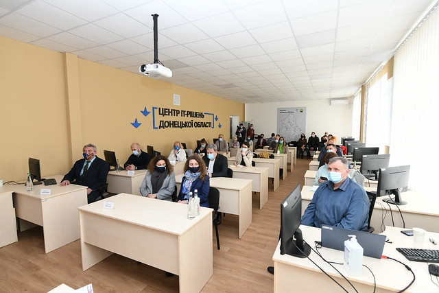 opening of IT Solution Centres for communities in eastern Ukraine