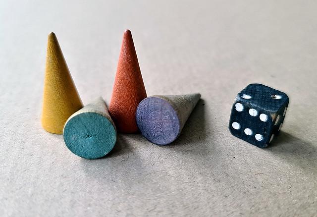 Fyra färger i leken