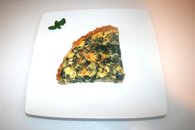 26 - Salmon spinach quiche - Serviert / Lachs-Spinat-Quiche - Serviert