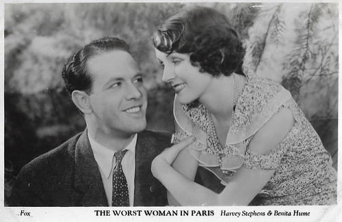 Benita Hume and Harvey Stephens in The Worst Woman in Paris?