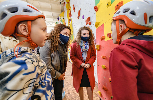 First ever climbing wall for people with disabilities in eastern Ukraine installed in Sloviansk