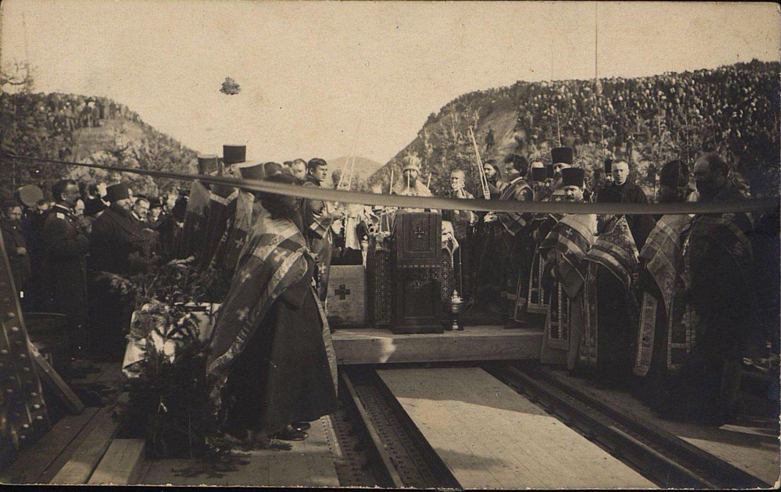 08. 1916. Открытие железнодорожного моста через реку Амур.Октябрь