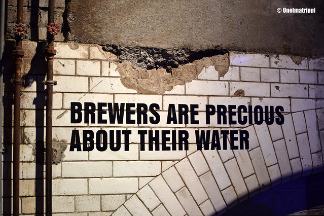 Brewers are precious about their water -teksti Guinness Storehousessa