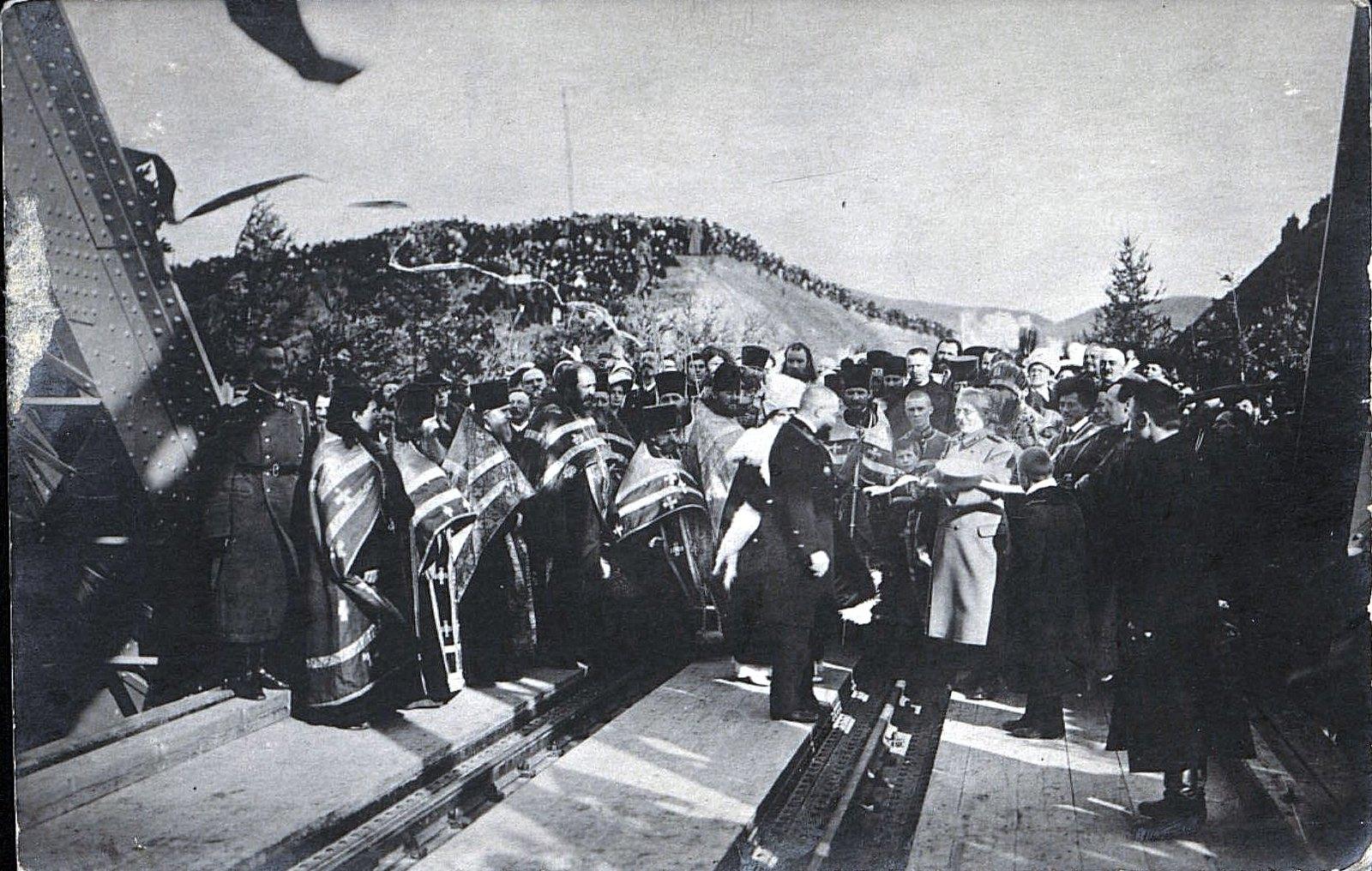 09. 1916. Открытие железнодорожного моста через реку Амур. Октябрь