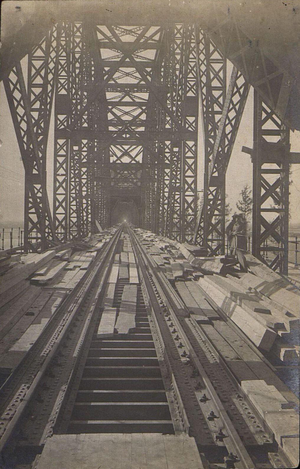 01. 1916. Открытие железнодорожного моста через реку Амур.Октябрь