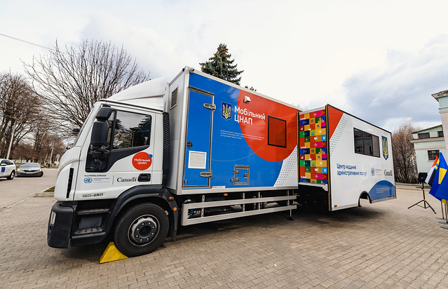 Transfer of mobile Administrative Service Centre to Kurakhove community