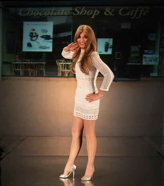 little cotton white dress