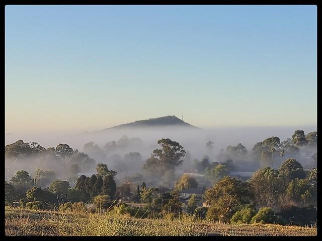 Mt Barker Across A Foggy Nairne