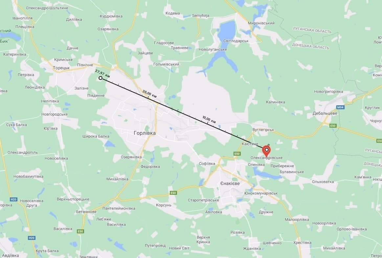 Carte tentant de dédouaner l'armée ukrainienne