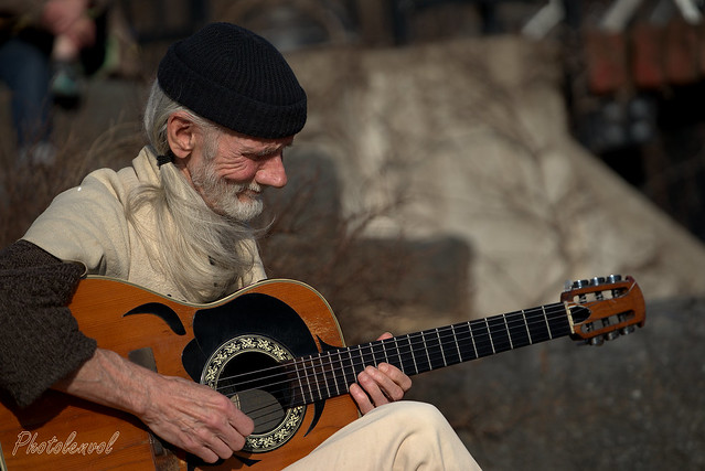 musicien parc Lafontaine
