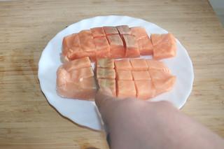 08 - Dice salmon / Lachs würfeln