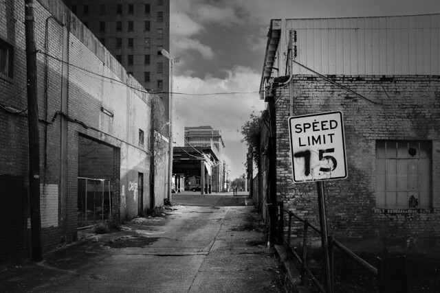 Alley with speed limit