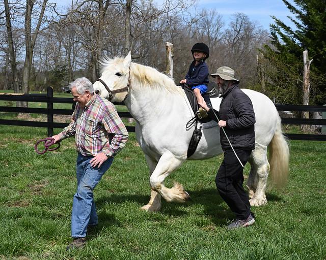 Nicolas riding Sir Michael