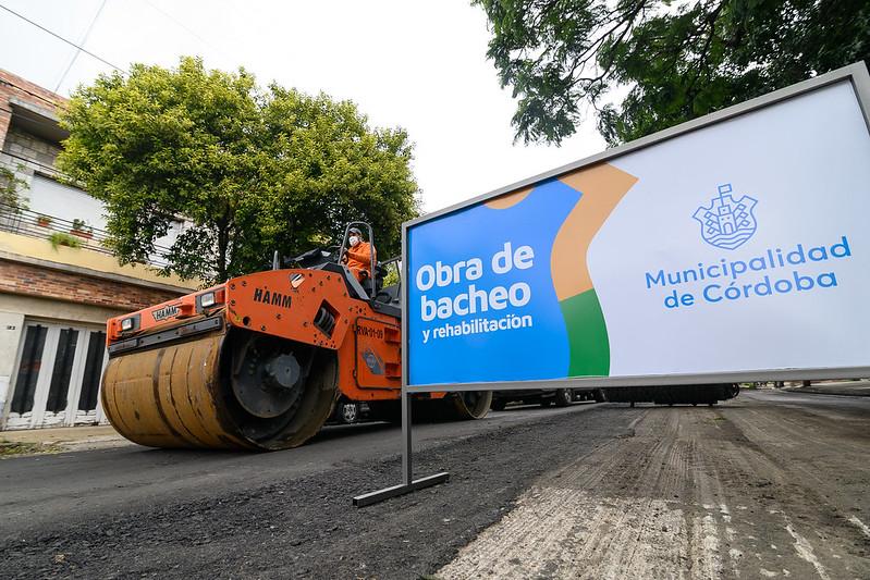 Nuevo frente de bacheo en barrio General Pueyrredón