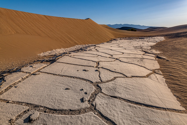 White Cracked Mud in Death Valley