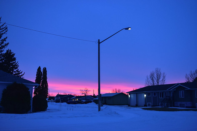Blue Hour with a pink last impression
