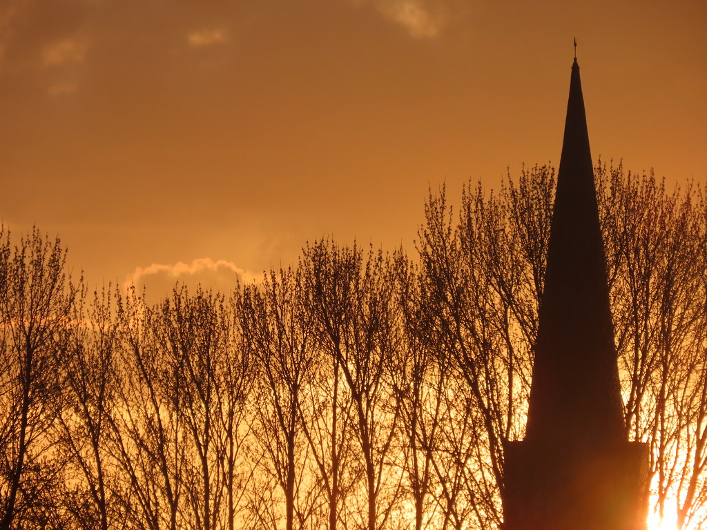 Brayton Church, Selby North Yorkshire In The Sunset