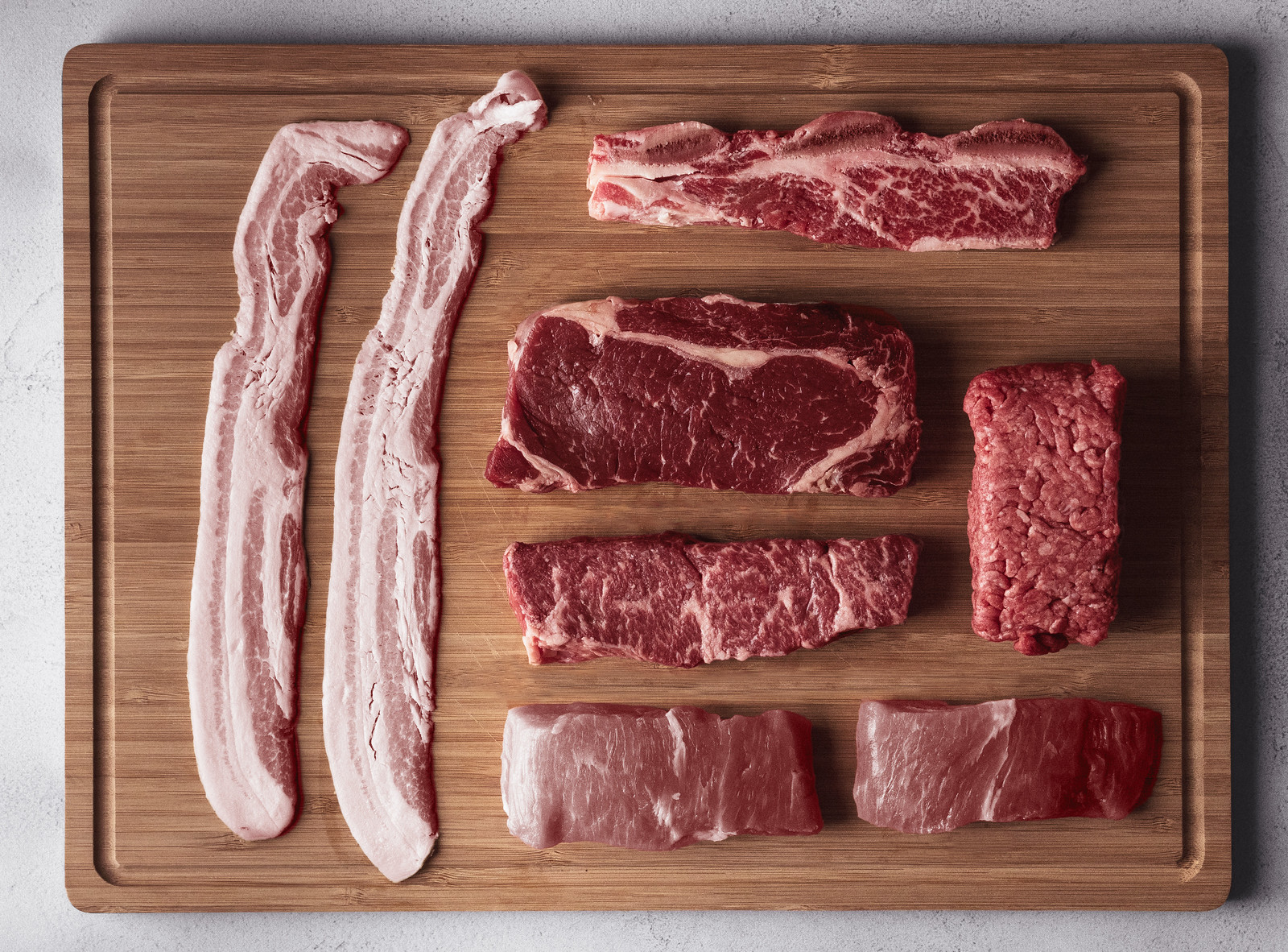 Knolling photography – Meat