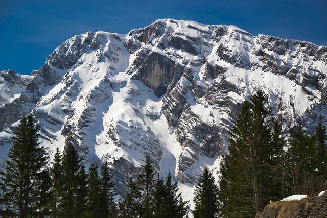 The Hoher Göll (2522 m) in deep snow