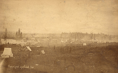 Str P241 - [View of Vancouver before the fire from a clearing at Hastings Street and Granville Street ] 1886