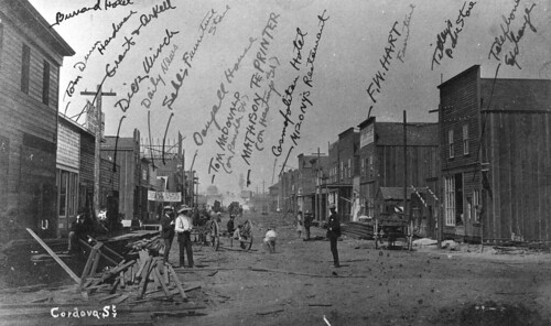 Str P7 - Cordova Street [looking west from Carrall Street] - July 1886 - five weeks after the fire