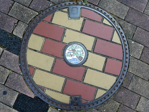 Karatsu Saga, manhole cover 2 (佐賀県唐津市のマンホール2)