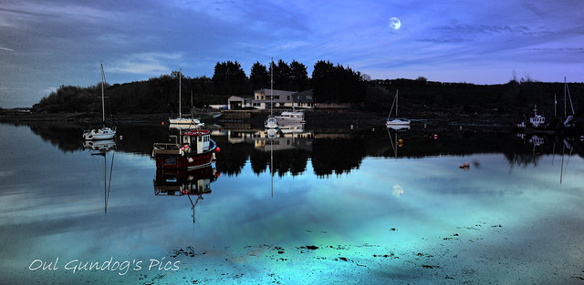 The Pale Moon Was Rising Above The Still Strangford