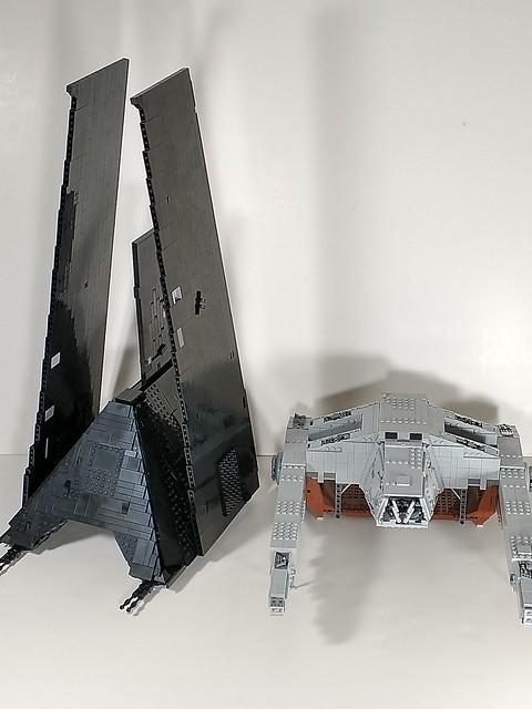 Lego Krennic's shuttle plus AT Hauler
